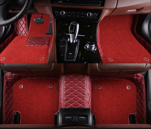 Red and Beige with Red carpet Front and Rear