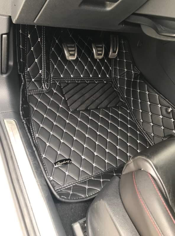 Black and White Diamond Stitching Front and Rear Mats