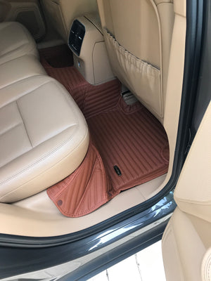 Caramel Stripes Front and Rear Mats