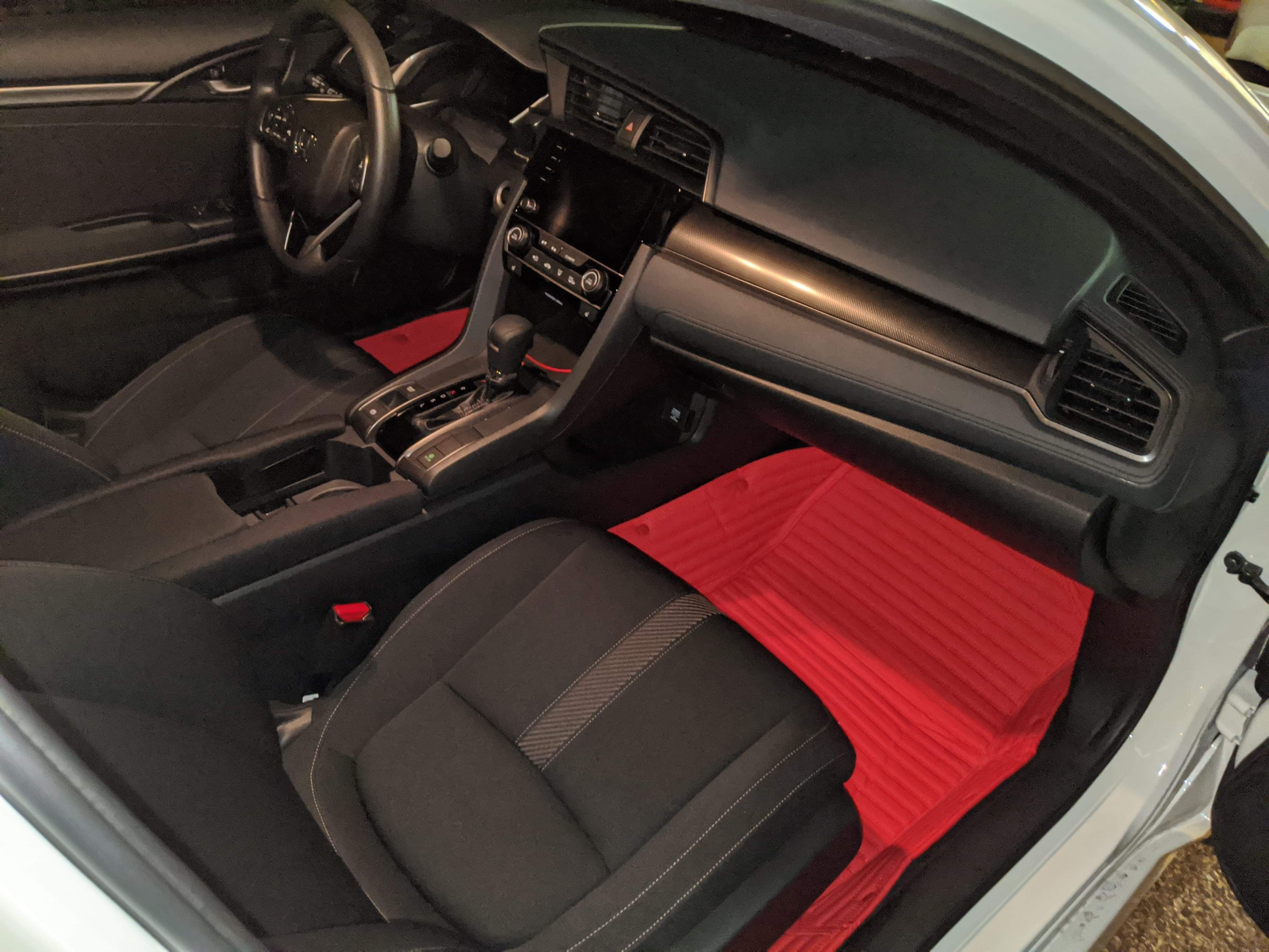 Lava Stripes Front and Rear Mats