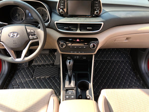 Black and Beige Diamond Style Front Mats Only