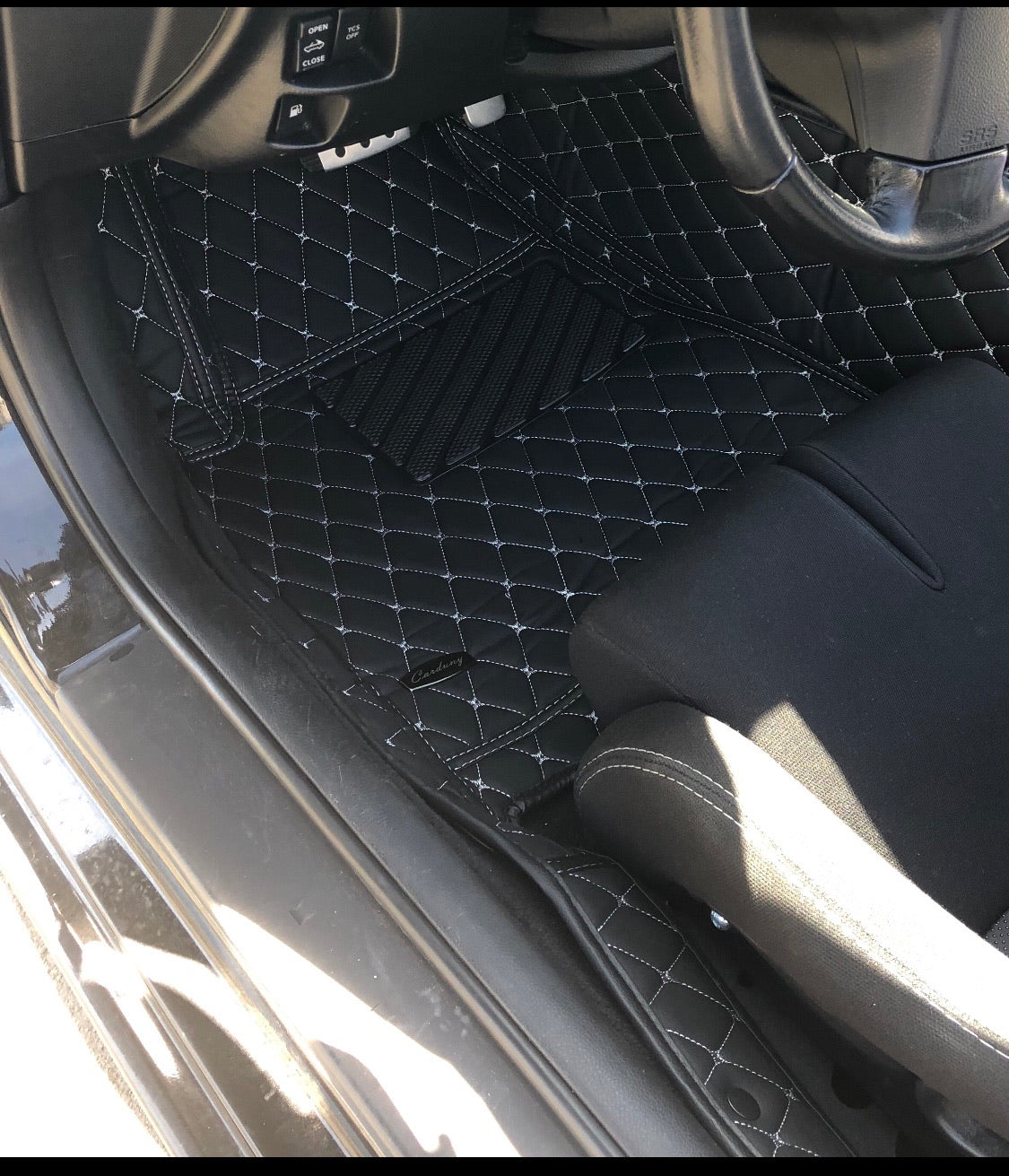Black and White Diamond Style Front Mats Only