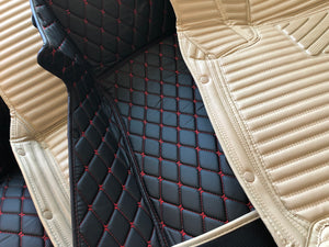 Macadamia Stripes Front and Rear Mats