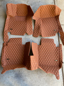 Light Brown Diamond Style Front and Rear Mats
