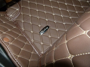 Dark Brown Diamond Style Front and Rear Mats