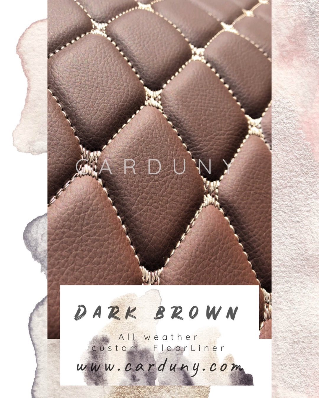 Dark Brown Diamond Style Front Mats Only
