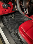 Black and Black Diamond Stitching Front and Rear Mats