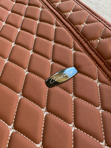 Light Brown Diamond Style Front Mats Only