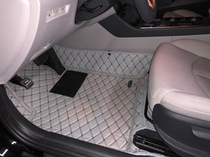 Gray Diamond Style Front and Rear Mats