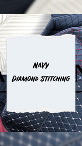 Navy Diamond Stitching