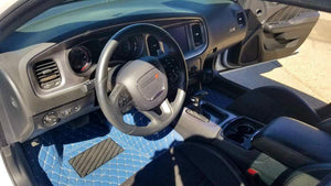 Navy Diamond Style Front and Rear Mats