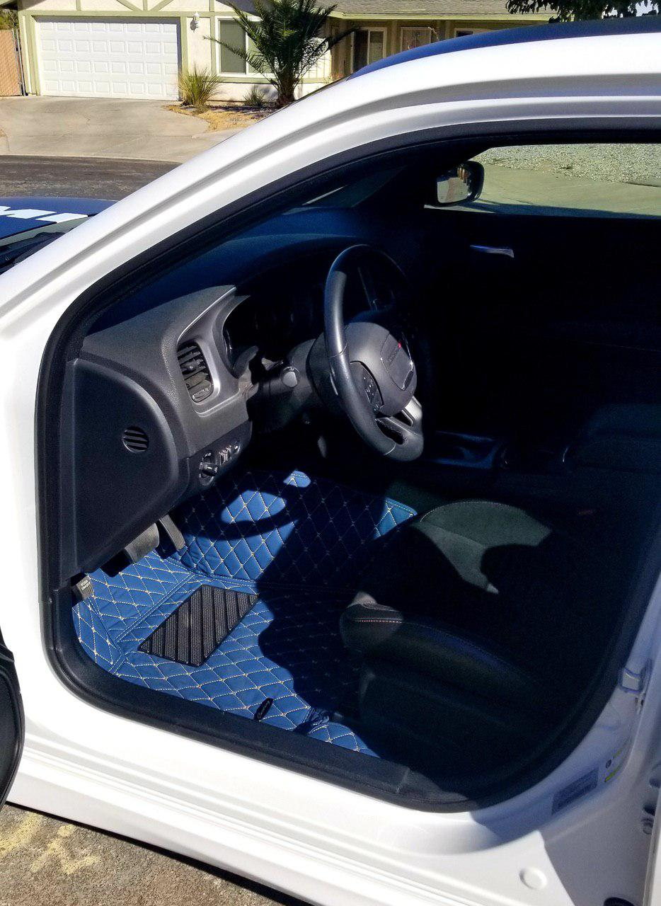 Navy Diamond Style Front Mats Only