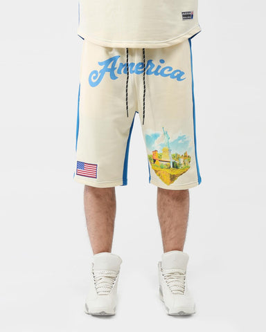 HUDSON WELCOME TO AMERICA SHORTS (BLUE)