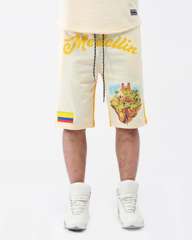 HUDSON WELCOME TO MEDELLIN SHORTS (YELLOW)