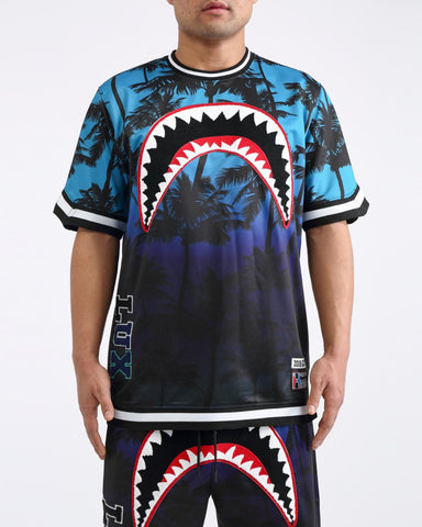 HUDSON Sharkmouth Palms Jersey (Purple)