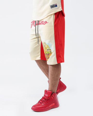 HUDSON WELCOME TO MILANO SHORTS (RED)