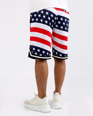 7eed6964 HUDSON What The B-Ball Shorts (White/Red)