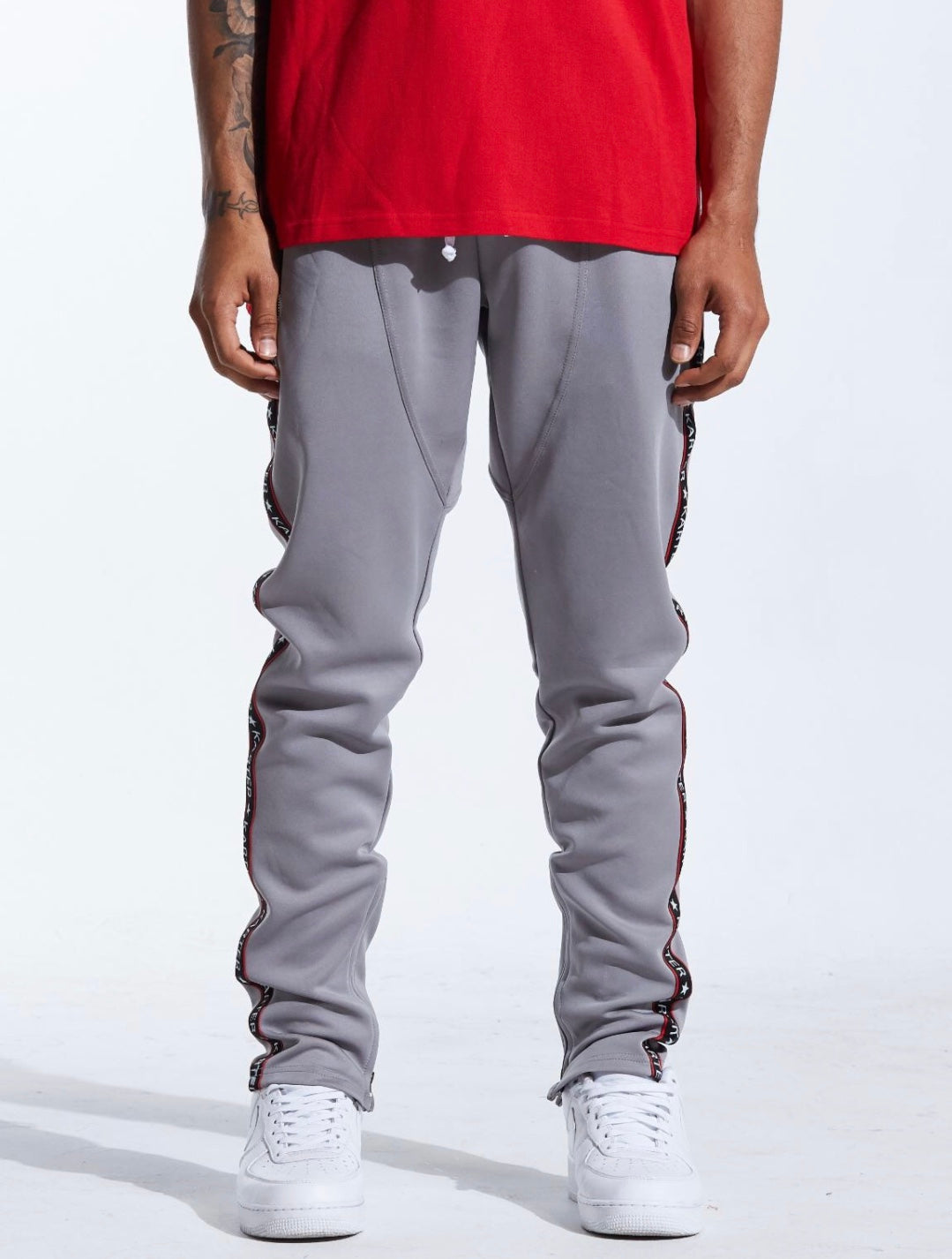 Karter Collection Banner Track Pants (Grey)