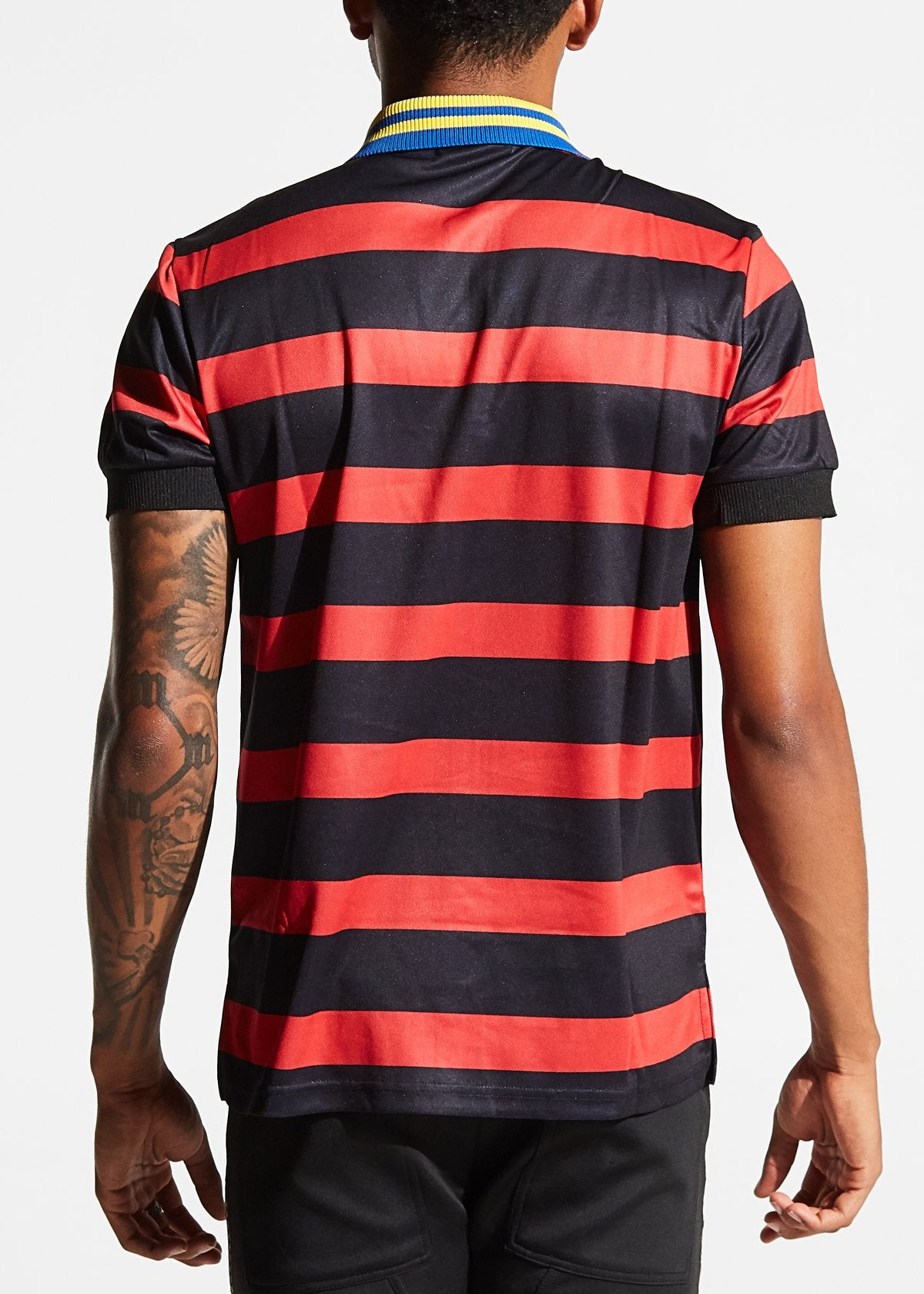 KARTER COLLECTION HOWLETT POLO (BLACK/RED)