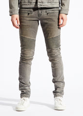 Embellish CAMMIE BIKER DENIM (GRAY)