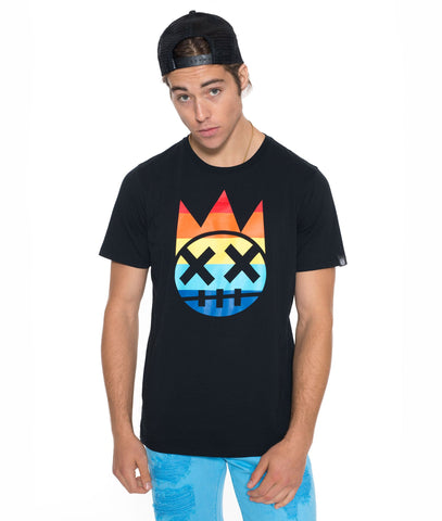 CULT Rainbow Shimuchan Crew Neck T Shirt in Black