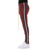 EPTM RED/BLACK/WHITE-TAPED PLAID TRACK PANTS