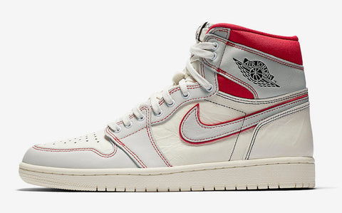 37a07a0e2af0b0 JORDAN Retro 1 High OG (Sail Black Phantom University Red)