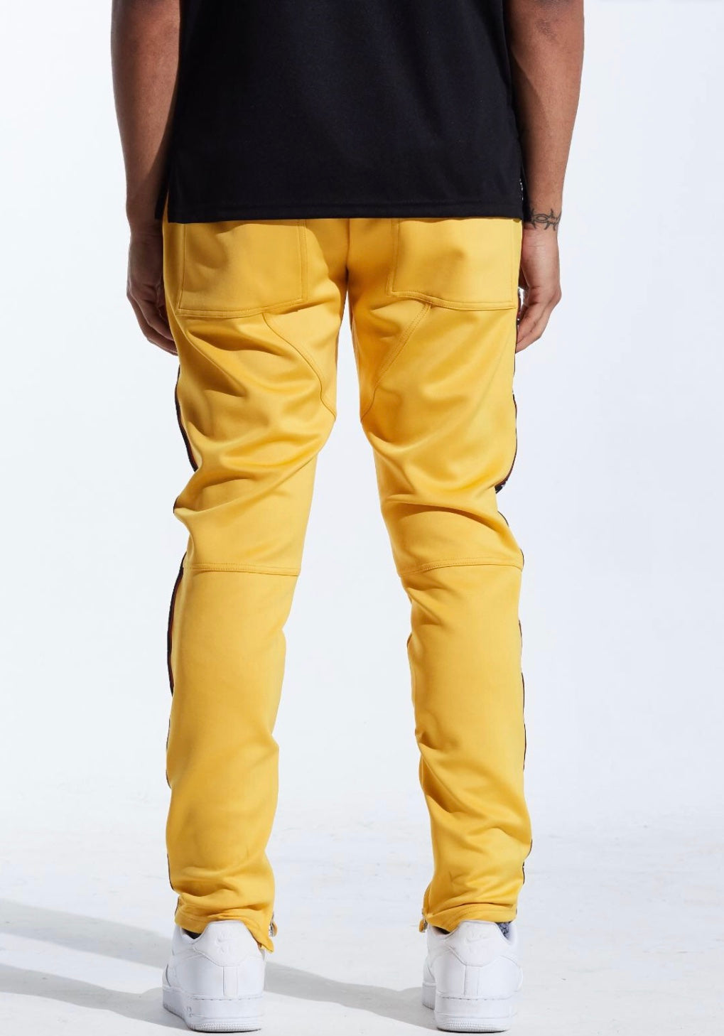 Karter Collection Banner Track Pants (Yellow)
