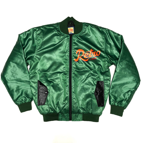 Retro Label Rocket Bomber Jacket (Green)
