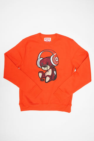 RED TAG BEAR BEATS SWEATSHIRT (ORANGE)
