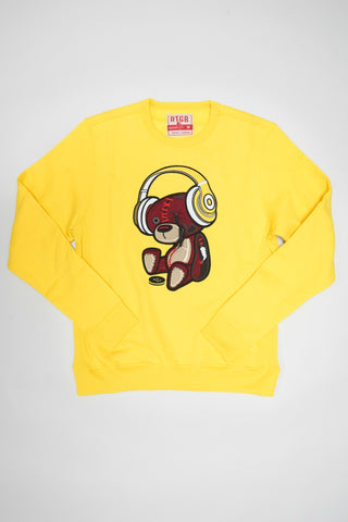 RED TAG BEAR BEATS SWEATSHIRT (YELLOW)