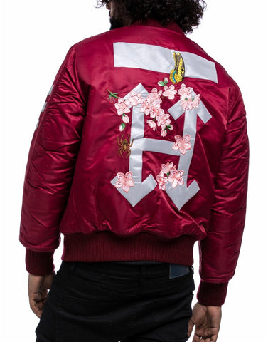 Hudson 3M H Flower Jacket (Burgundy)