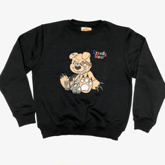 RETRO LABEL GREEDY BEAR (BLACK)