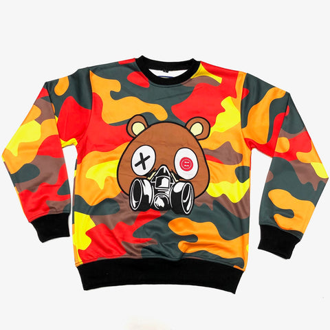 RETRO LABEL GAS MASK BEAR CREWNECK