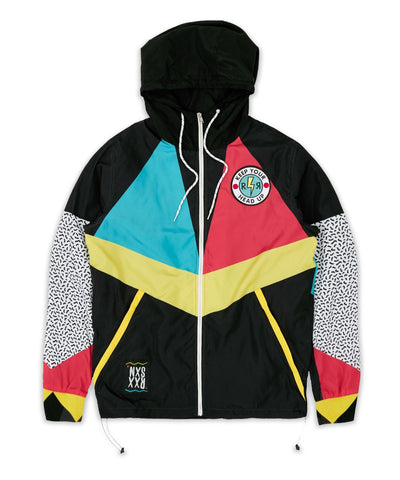 REASON MEMPHIS ANORAK WINDBREAKER (BLACK)