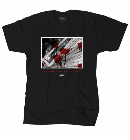 OUTRNK BLOOD SWEAT TEARS TEE (BLACK)