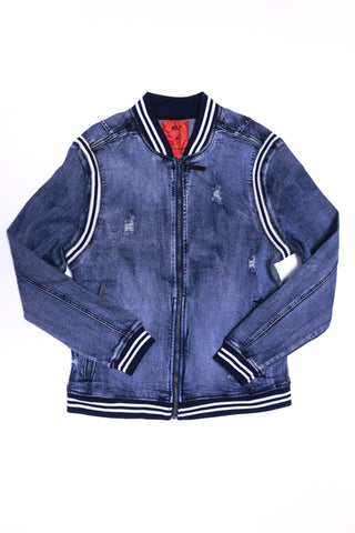ROYAL SEVEN Fashion Denim Jacket (Dark Wash)