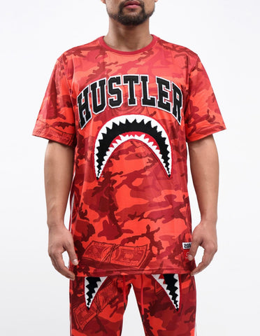 HUDSON Camo SharkMouth SS Tee (Red)