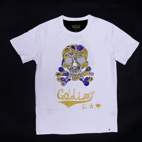 GOLD LEAF Skull Drip Tee (White)