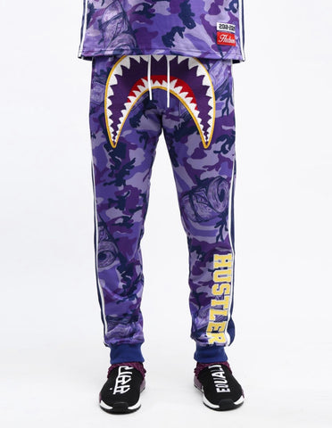 HUDSON Camo SharkMouth Sweatpants (Purple)