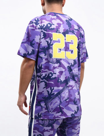 HUDSON Camo SharkMouth SS Tee (Purple)