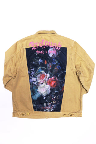Profound Still Life Destroyed Denim Jacket in Dusted Camel