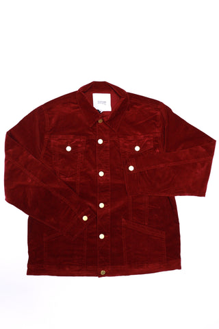 Profound Queen Back Corduroy Jacket (Maroon)