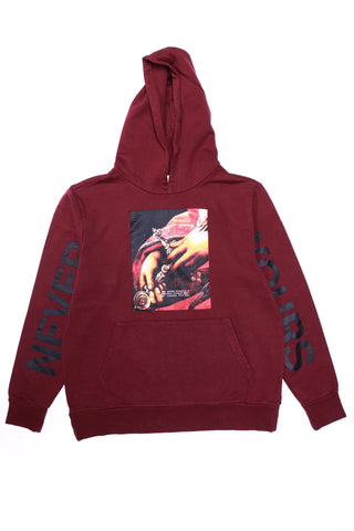 Profound Never Yours  Graphic Hoodie (Burgundy)