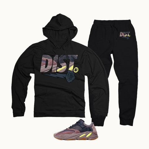 District 81 Pullover Jogging Suit (Black)