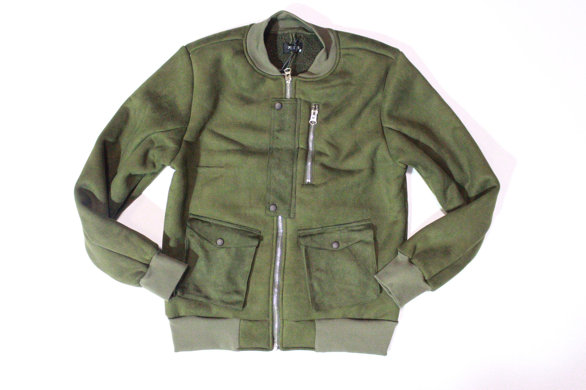 KITE Suede Zip Bomber Jacket (Green)