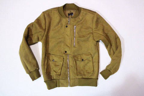 KITE Suede Zip Bomber Jacket (Wheat)