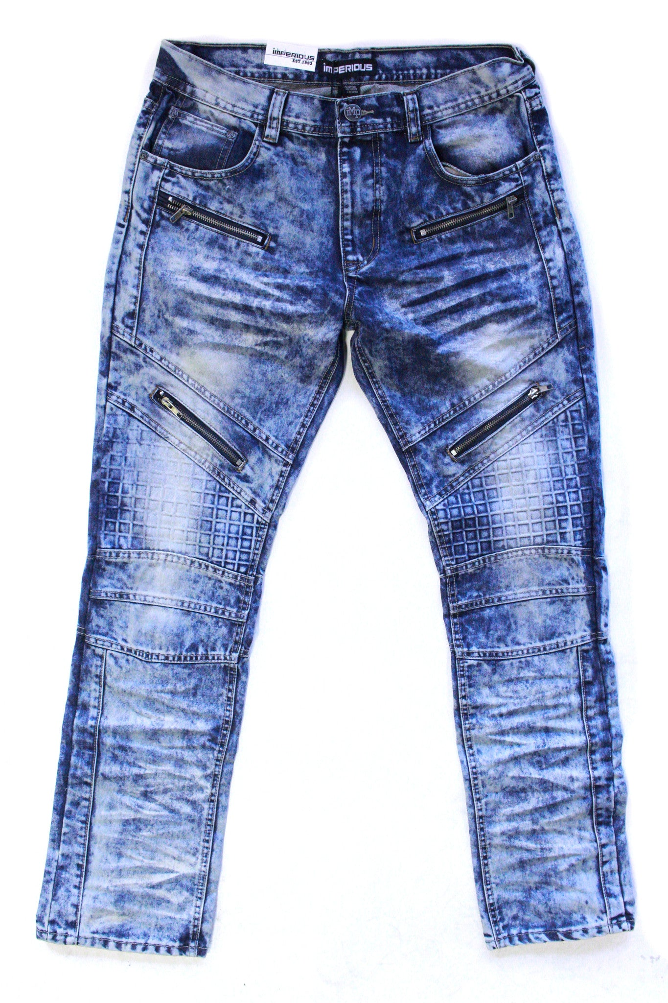 Imperious Zippered Denim Jeans