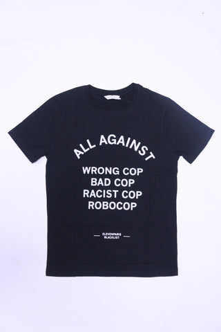 ELEVEN PARIS AGAINST COPS Tee (Black)