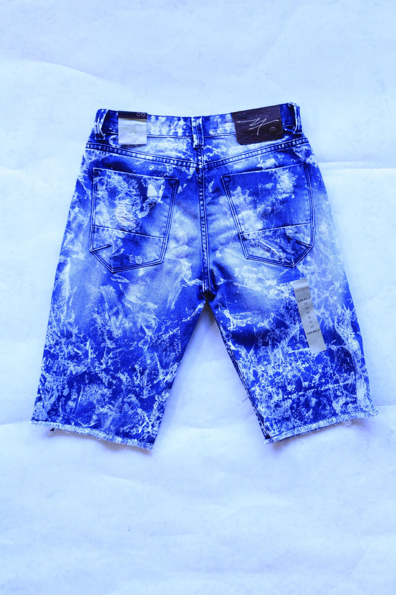Level 7 Denim Distressed Jean Shorts